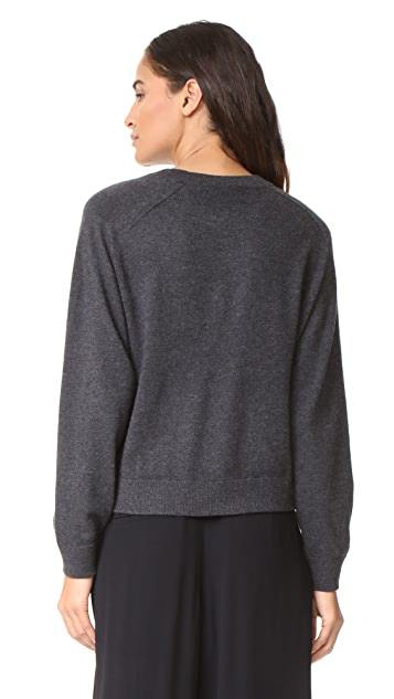 Vince Wide Saddle Cashmere Pullover