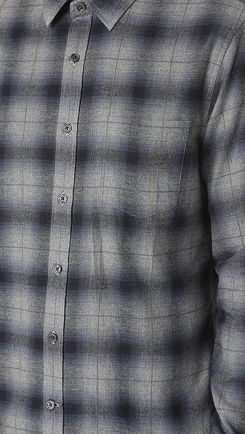 Vince Window Shadow Plaid Shirt