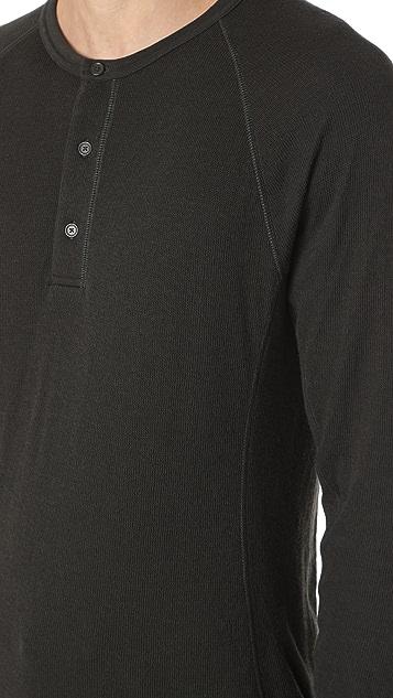 Vince Double Knit Raglan Henley