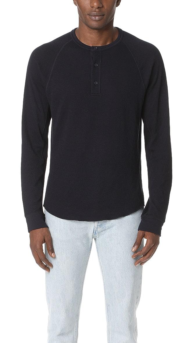Vince Medium Mock Zip Sweater Coastal Blue