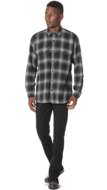 Vince Ombre Buffalo Plaid Overshirt