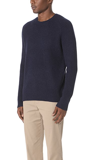 Vince Raglan Ribbed Crew Neck Sweater