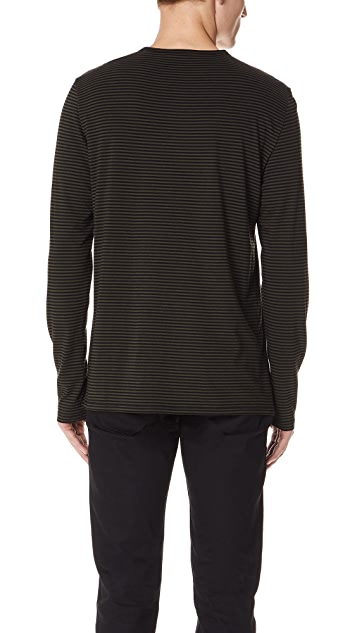 Vince Feeder Stripe Long Sleeve Tee