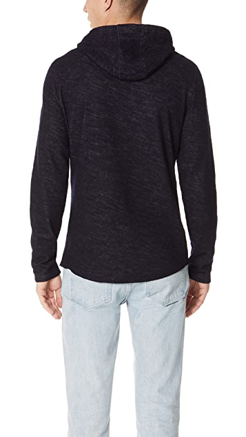 Vince Contrast Double Knit Hoodie