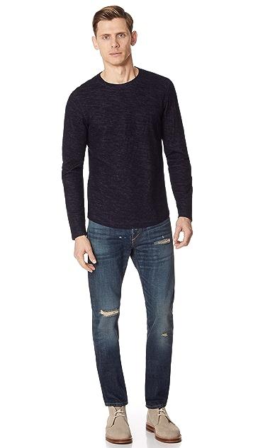 Vince Contrast Double Knit Shirt