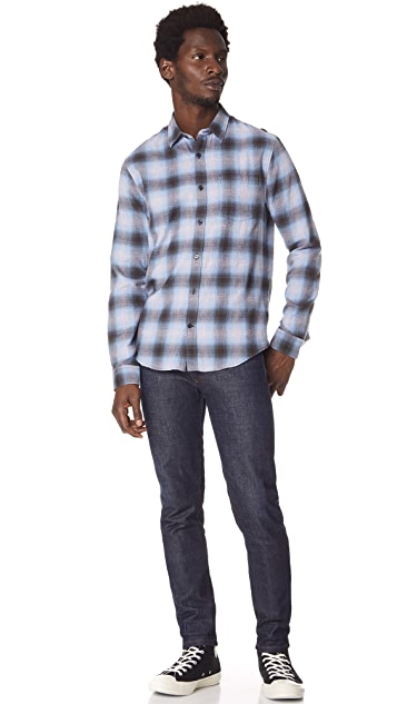 Vince Shadow Plaid Shirt
