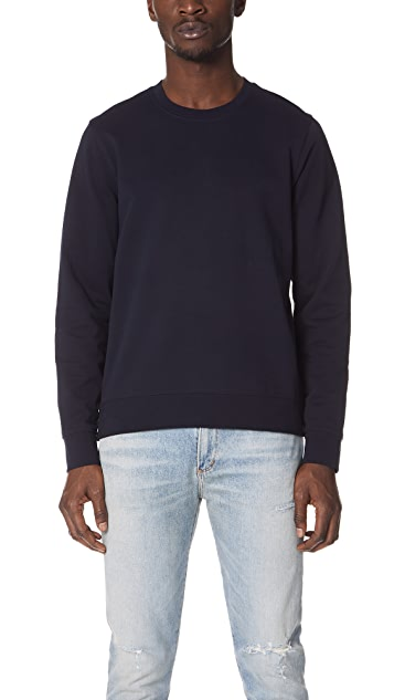 Vince Side Zip Crew Sweatshirt