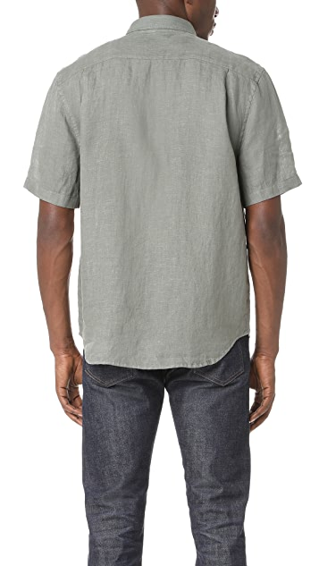 Vince Short Sleeve Linen Shirt