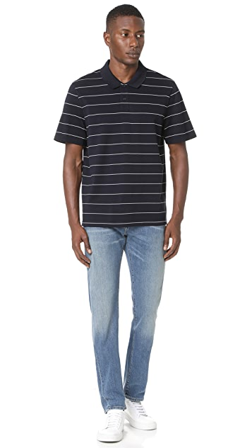 Vince Pencil Stripe Polo