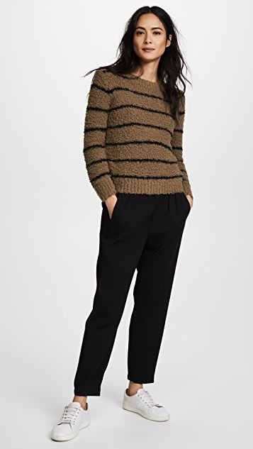 Vince Fuzzy Striped Crew