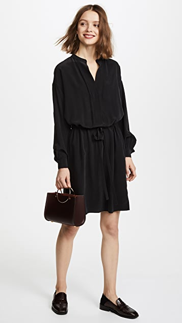 Vince Shirred Sleeve Dress