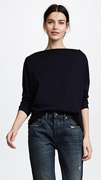 Vince Long Sleeve Mock Neck Tee