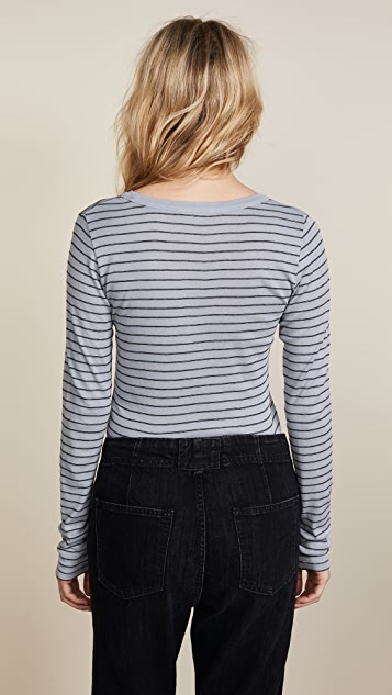 Vince Double Pinstripe Tee