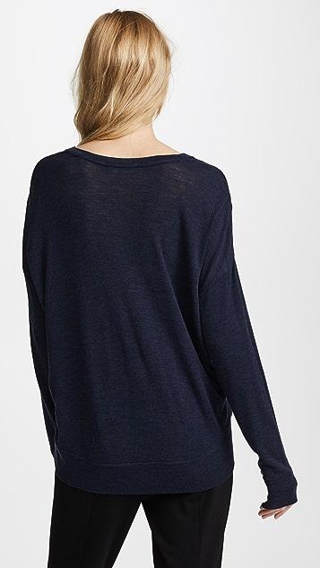 Vince Drop Shoulder V Neck Sweater
