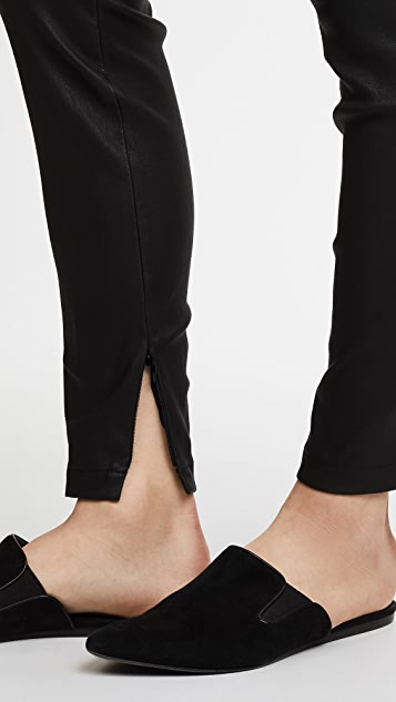 Vince Leather Zip Ankle Leggings