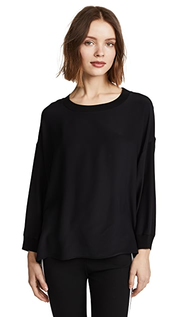 Vince Rib Trim Long Sleeve