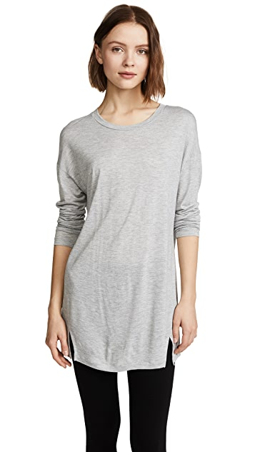 Vince Long Sleeve Drapey Dress