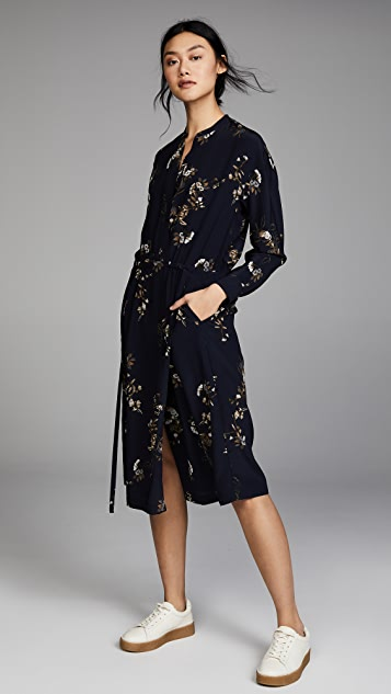 Vince Elastic Waist Shirtdress