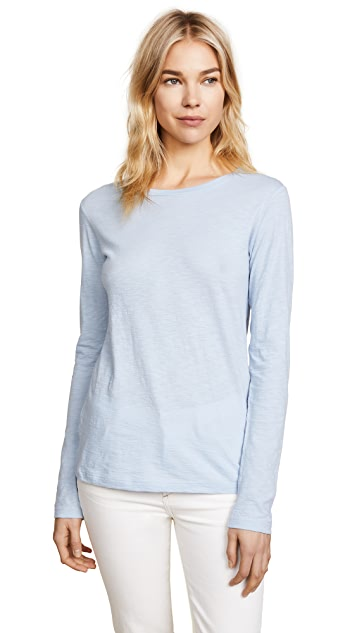 Vince Long Sleeve Slub Crew Neck Tee