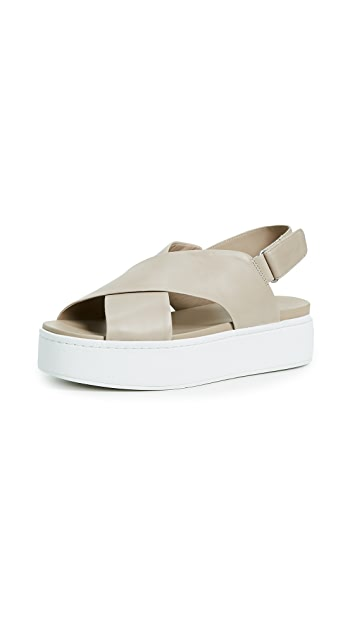 Vince Weslan Crisscross Flatform Sandals