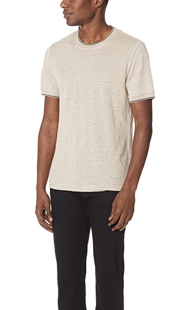 Vince Ribbed Short Sleeve Tee