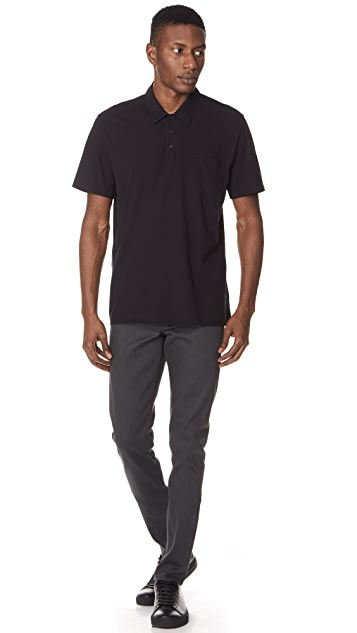 Vince Single Pocket Short Sleeve Polo