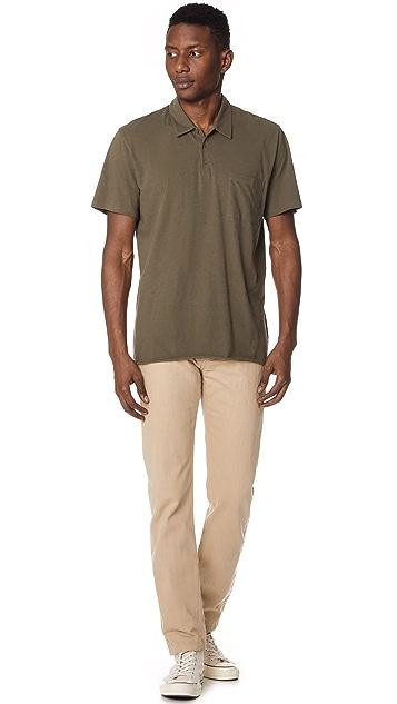 Vince Single Pocket Short Sleeve Polo Shirt