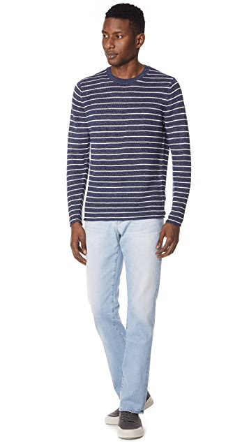 Vince Long Sleeve Striped Crewneck