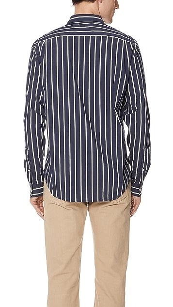Vince Column Stripe Long Sleeve Shirt