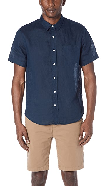 Vince Classic Fit Short Sleeve Shirt