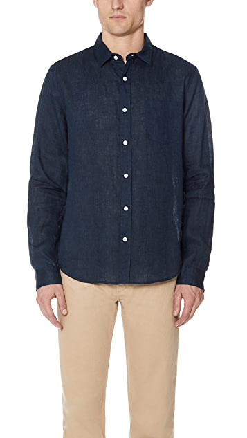 Vince Classic Fit Long Sleeve Shirt