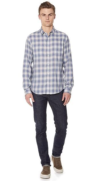 Vince Shadow Plaid Shirt