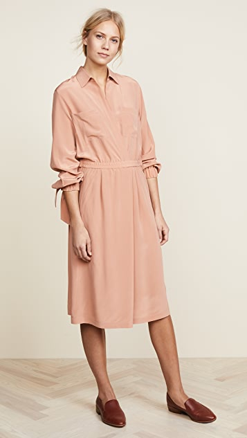 0d3636e9a19bdf Vince Slit Back Shirtdress