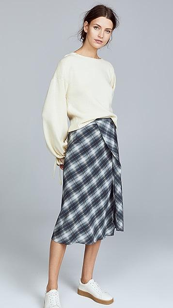 Vince Scrunch Crop Hooded Sweater