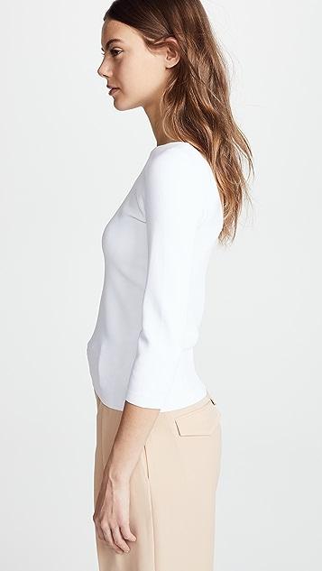 Vince Рубашка с U-образным вырезом на спине