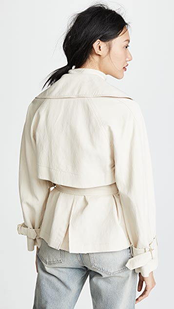 Vince Cropped Trench Coat