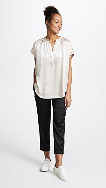 Vince Ruched Neck Pullover