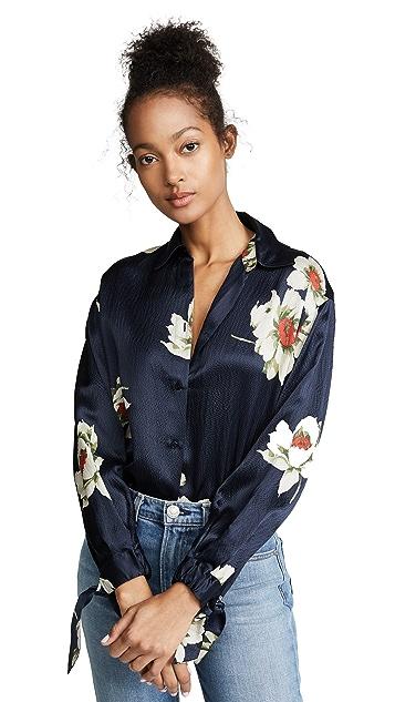 Vince Gardenia Floral Blouse