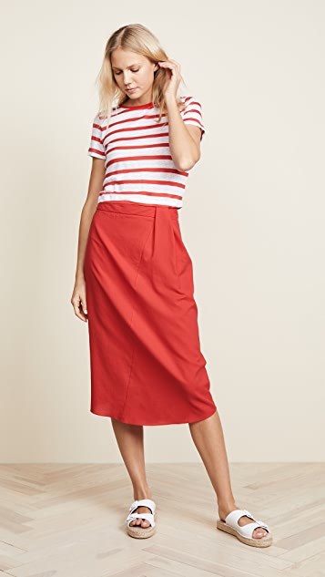 Vince Pleat Skirt