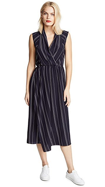 Vince Draped Cross Front Dress
