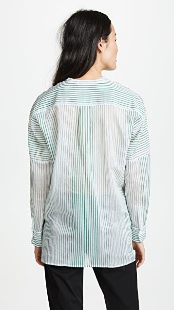 Vince Pencil Stripe Tunic