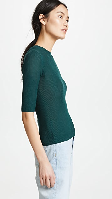 Vince Ribbed Sweater Tee