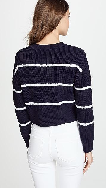 Vince Racked Rib Stripe Sweater