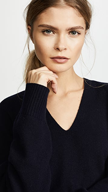 Vince Deep V Neck Cashmere Sweater