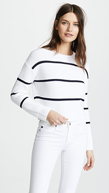 Vince Racked Rib Stripe Sweater