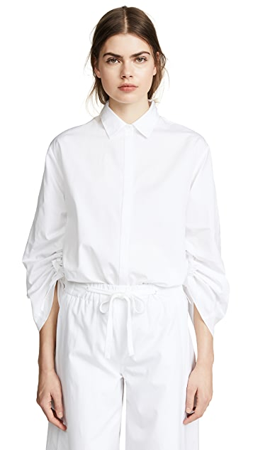 Vince Cinched Sleeve Top