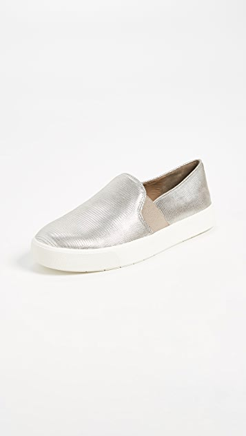 Vince Blair Slip On Sneakers - Silver Woodsmoke