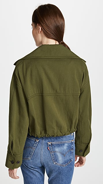 Vince Cropped Lapel Jacket