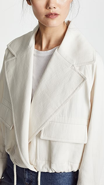 Vince Cropped Lapel Jacket