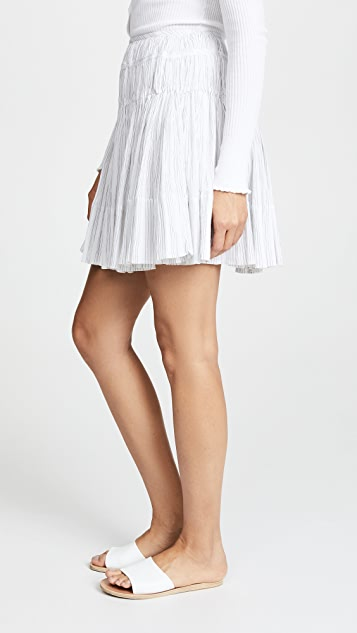 Vince Stripe Pleated Skirt